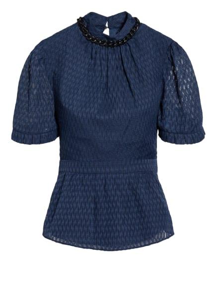 damsel in a dress Blusenshirt NAIDA mit Rüschenbesatz, Farbe: DUNKELBLAU (Bild 1)