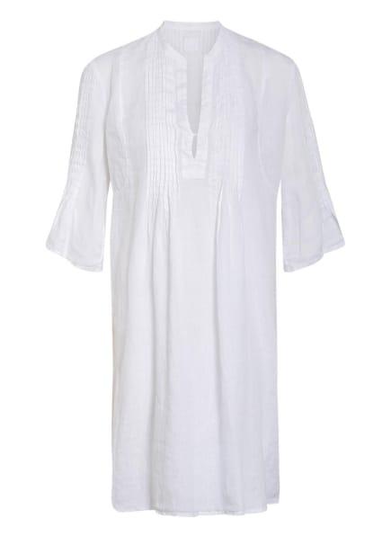 120%lino Leinenkleid mit 3/4-Arm, Farbe: WEISS (Bild 1)