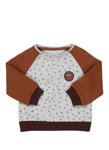 s.Oliver RED Sweatshirt, Farbe: HELLGRAU/ DUNKELBLAU/ BRAUN (Bild 1)