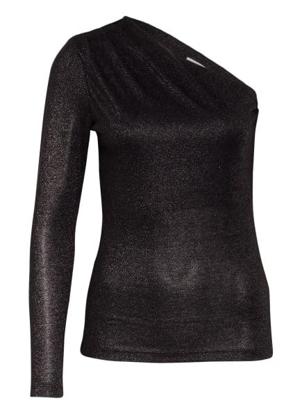 REISS One-Shoulder-Shirt JOSS mit Glitzergarn, Farbe: SCHWARZ (Bild 1)