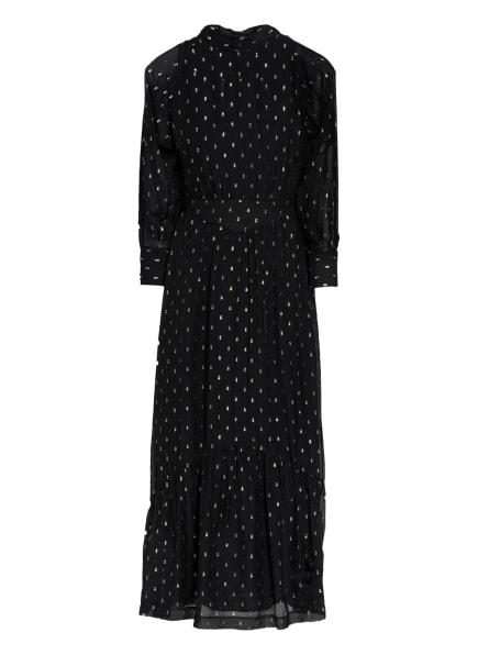ba&sh Kleid ROMY mit Glitzergarn , Farbe: SCHWARZ/ SILBER (Bild 1)