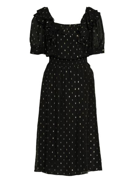 ba&sh Kleid ROMEO mit Seide, Farbe: NOIR NOIR (Bild 1)