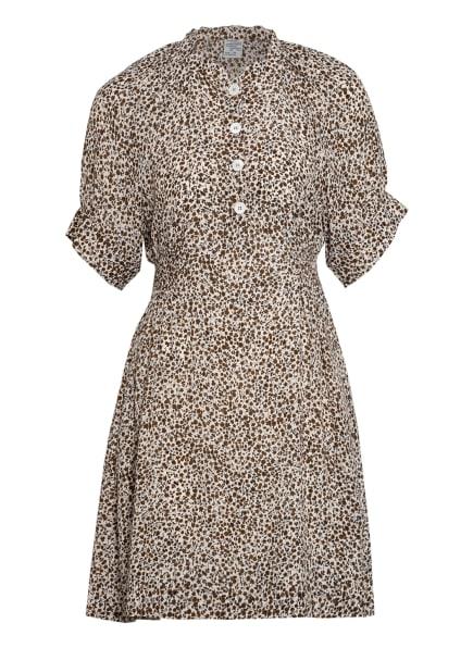 BAUM UND PFERDGARTEN Kleid ASHLEY mit Seide , Farbe: CREME/ DUNKELBRAUN/ SCHWARZ (Bild 1)