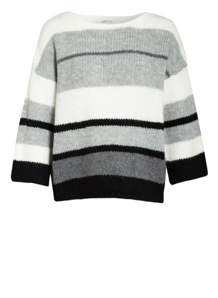 CARTOON Pullover, Farbe: WEISS/ GRAU/ SCHWARZ (Bild 1)