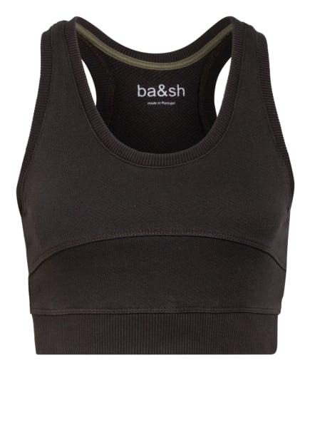 ba&sh Cropped-Top THAIS, Farbe: DUNKELGRAU (Bild 1)