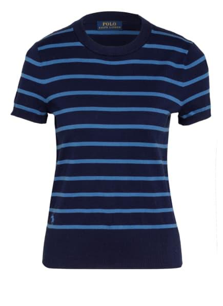 POLO RALPH LAUREN Strickshirt, Farbe: DUNKELBLAU/ HELLBLAU (Bild 1)