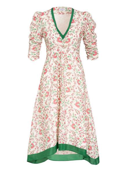 CLAUDIE PIERLOT Kleid ROLINA mit 3/4-Arm, Farbe: ECRU/ GRÜN/ ROT (Bild 1)