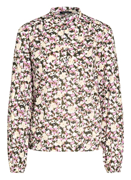 Marc O'Polo Blusenshirt aus Jersey, Farbe: OLIV/ ECRU/ ROSA (Bild 1)