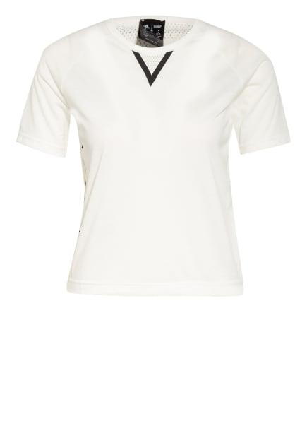 adidas T-Shirt mit Mesh-Einsatz, Farbe: ECRU/ SCHWARZ (Bild 1)