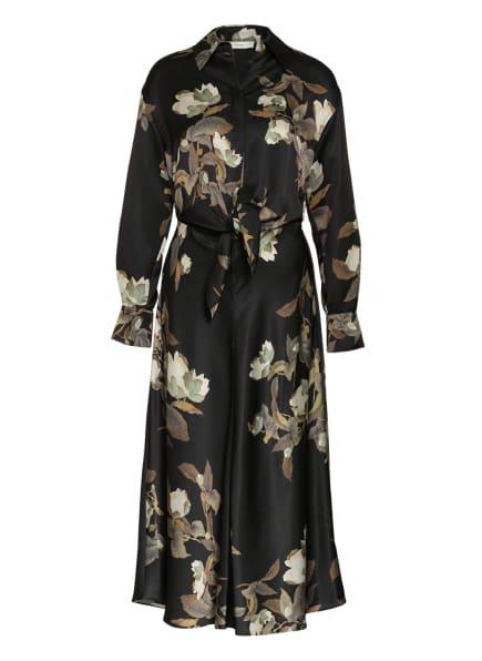 VINCE Kleid LISIANTHUS, Farbe: SCHWARZ/ CREME/ OLIV (Bild 1)