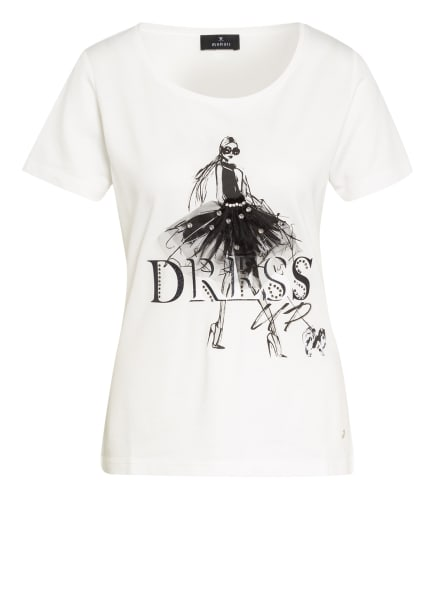 monari T-Shirt mit Schmucksteinbesatz, Farbe: WEISS (Bild 1)