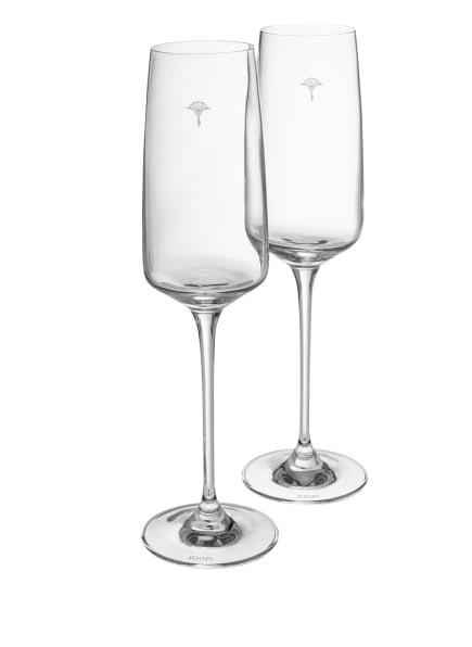 JOOP! 2er-Set Champagnergläser SINGLE CORNFLOWER, Farbe: WEISS (Bild 1)