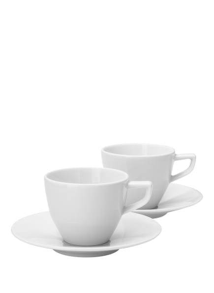 JOOP! 2er-Set Tassen mit Untertasse SINGLE CORNFLOWER, Farbe: WEISS (Bild 1)