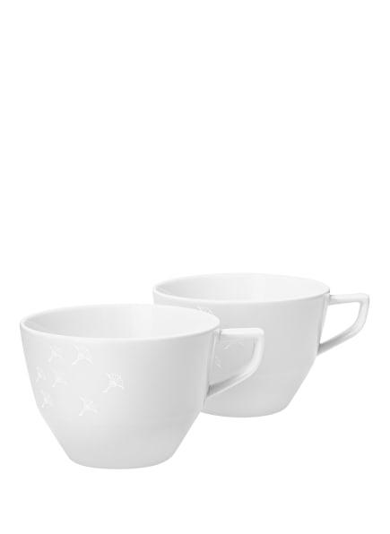 JOOP! 2er-Set Tassen FADED CORNFLOWER, Farbe: WEISS (Bild 1)