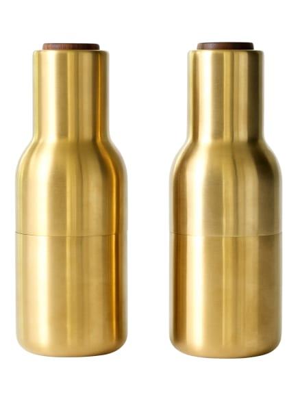MENU Salz- und Pfeffermühle BOTTLE , Farbe: GOLD/ DUNKELBRAUN (Bild 1)