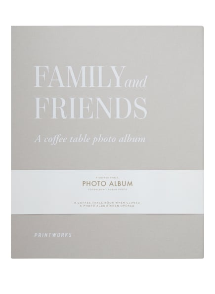 PRINTWORKS Fotoalbum FAMILY AND FRIENDS, Farbe: HELLGRAU/ WEISS (Bild 1)