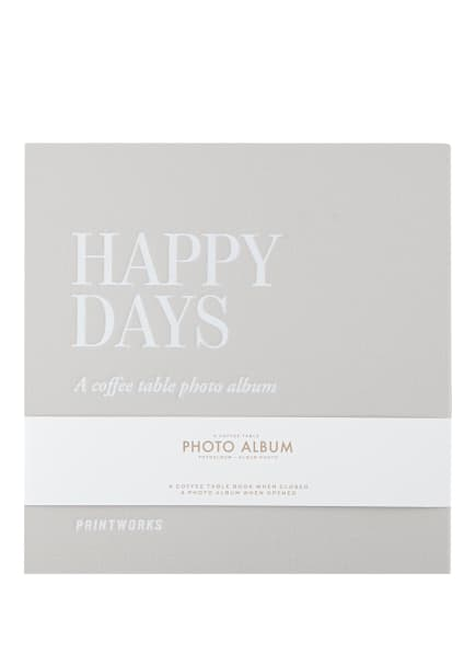 PRINTWORKS Fotoalbum HAPPY DAYS, Farbe: GRAU (Bild 1)
