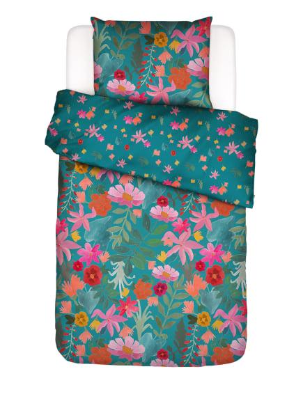 COVERS & CO Bettwäsche FLOWER POWER, Farbe: PETROL/ PINK/ DUNKELORANGE (Bild 1)