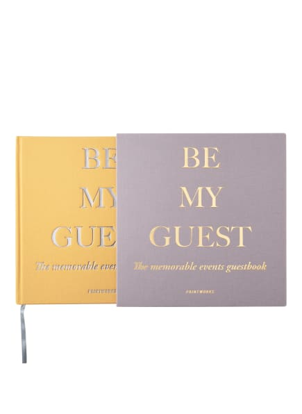 PRINTWORKS Gästebuch BE MY GUEST , Farbe: TAUPE/ DUNKELGELB (Bild 1)