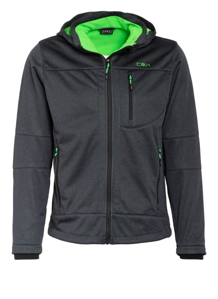 CMP Softshell-Jacke, Farbe: DUNKELGRAU MELIERT (Bild 1)