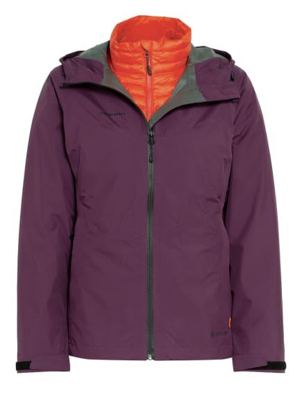 MAMMUT 3-in-1 Jacke CONVEY mit herausnehmbarer Daunenjacke, Farbe: LILA/ ORANGE (Bild 1)