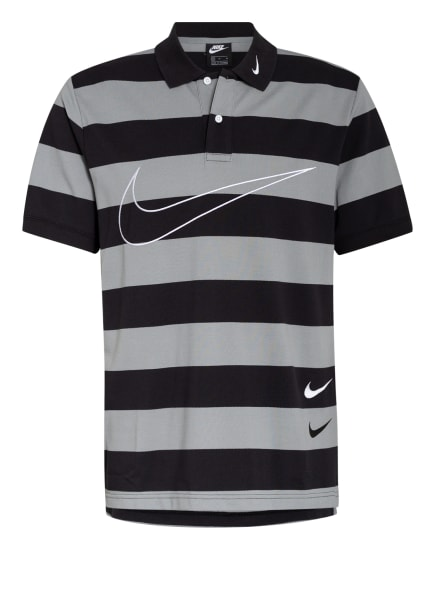 Nike Piqué-Poloshirt , Farbe: SCHWARZ/ HELLGRAU (Bild 1)