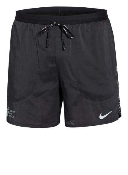 Nike Laufshorts FLEX STRIDE FUTURE FAST mit Mesh-Einsätzen, Farbe: SCHWARZ/ SILBER (Bild 1)