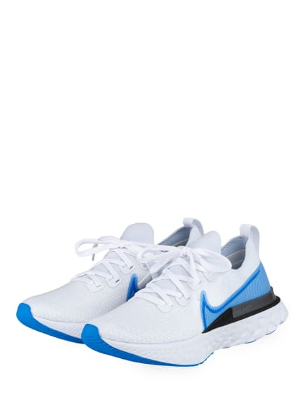 Nike Laufschuhe REACT INFINITY RUN FLYKNIT, Farbe: WEISS/ HELLBLAU (Bild 1)