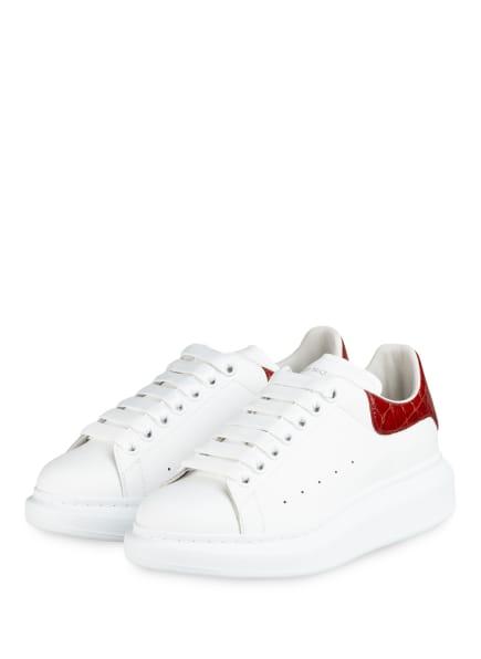 ALEXANDER McQUEEN Plateau-Sneaker, Farbe: WEISS/ DUNKELORANGE (Bild 1)