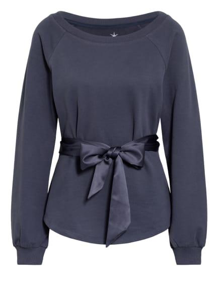 Juvia Sweatshirt mit Bindegürtel, Farbe: BLAU (Bild 1)