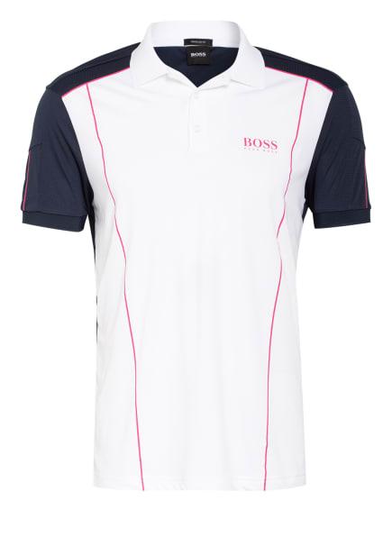 BOSS Jersey-Poloshirt PADDY Regular Fit, Farbe: WEISS/ DUNKELBLAU (Bild 1)