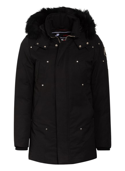 MOOSE KNUCKLES Daunenparka STIRLING mit Shearling, Farbe: SCHWARZ (Bild 1)