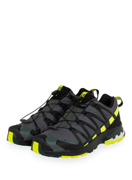 SALOMON Trailrunning-Schuhe XA PRO 3D GTX, Farbe: DUNKELGRÜN/ LIME/ SCHWARZ (Bild 1)
