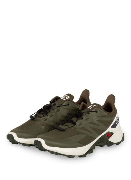 SALOMON Trailrunning-Schuhe SUPERCROSS BLAST, Farbe: OLIV/ VANILLE (Bild 1)