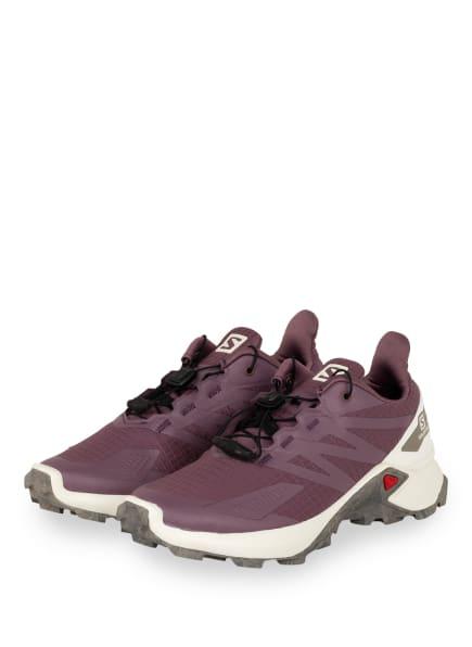 SALOMON Trailrunning-Schuhe SUPERCROSS BLAST, Farbe: LILA/ VANILLE/ KHAKI (Bild 1)