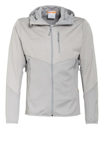 MAMMUT Softshell-Jacke ULTIMATE VI, Farbe: GRAU MELIERT/ GRAU (Bild 1)