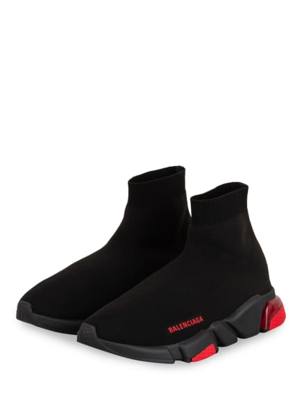 BALENCIAGA Hightop-Sneaker SPEED , Farbe: SCHWARZ/ ROT (Bild 1)