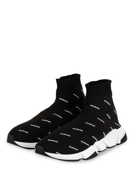BALENCIAGA Hightop-Sneaker SPEED , Farbe: SCHWARZ/ WEISS (Bild 1)