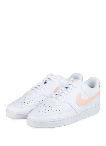 Nike Sneaker COURT VISION LOW, Farbe: WEISS/ HELLORANGE (Bild 1)