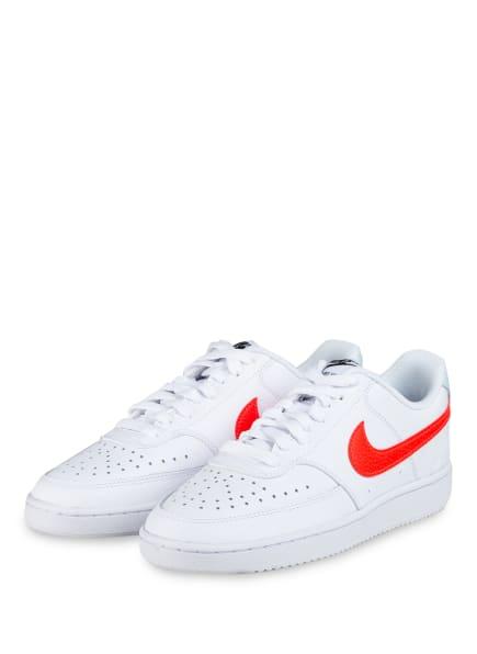 Nike Sneaker COURT VISION LOW, Farbe: WEISS/ NEON ORANGE (Bild 1)
