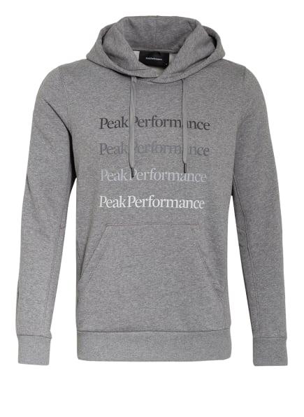 Peak Performance Hoodie GROUND, Farbe: GRAU MELIERT (Bild 1)
