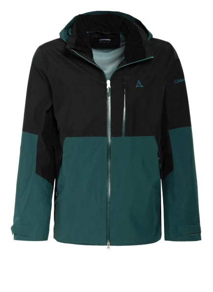 Schöffel Outdoor-Jacke PADON, Farbe: DUNKELGRÜN/ SCHWARZ (Bild 1)