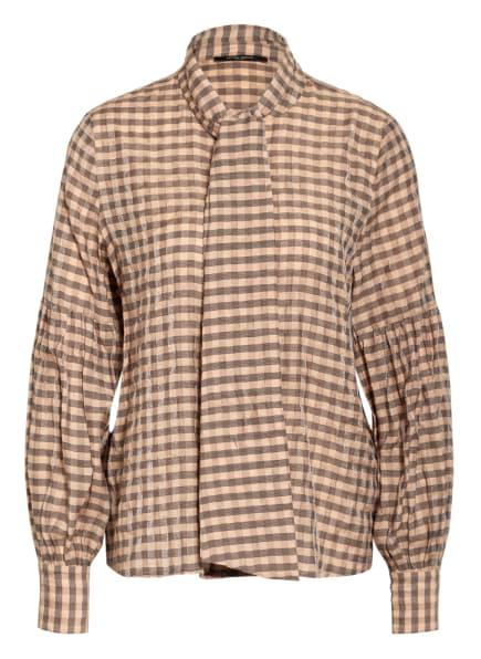 BRUUNS BAZAAR Bluse LEYRE ALEXA mit abnehmbarer Schluppe, Farbe: BEIGE/ SCHWARZ KARIERT (Bild 1)