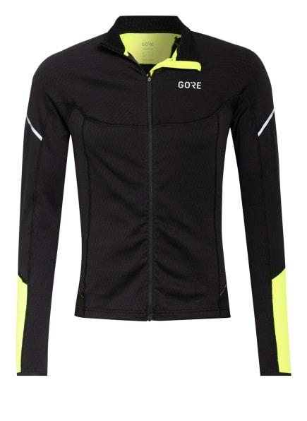 GORE RUNNING WEAR Fleecejacke GORE® M THERMO, Farbe: SCHWARZ/ GELB (Bild 1)