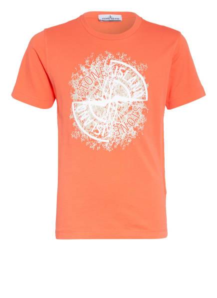 STONE ISLAND JUNIOR T-Shirt, Farbe: ORANGE (Bild 1)