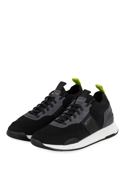 BOSS Sneaker TITANUM RUNN, Farbe: SCHWARZ/ DUNKELGRAU (Bild 1)