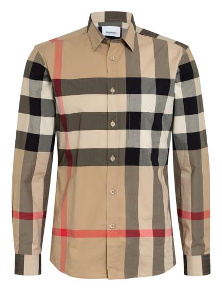 BURBERRY Hemd SOMERTON Slim Fit, Farbe: CAMEL/ DUNKELBLAU/ ROT KARIERT (Bild 1)