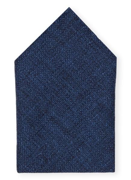 BOSS Einstecktuch mit Leinen, Farbe: BLAU MELIERT (Bild 1)