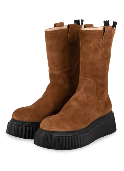 AGL ATTILIO GIUSTI LEOMBRUNI Plateau-Boots, Farbe: COGNAC (Bild 1)