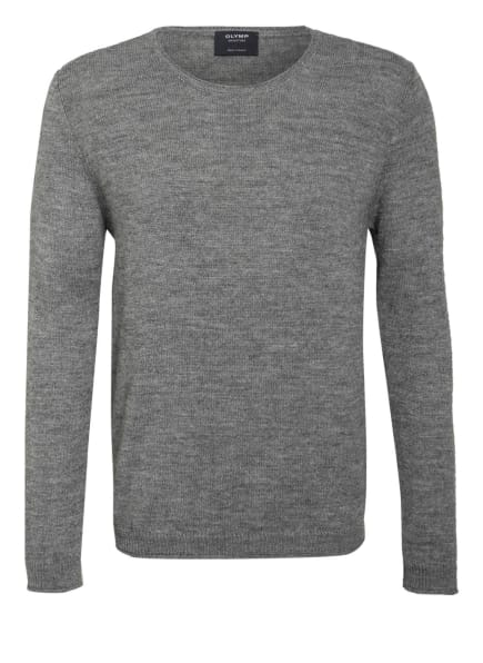 OLYMP SIGNATURE Pullover mit Alpaka, Farbe: HELLGRAU MELIERT (Bild 1)